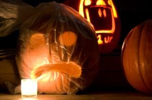 brad's drowning pumpkin.